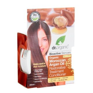 Dr Organic Moroccan Argan Oil Restorative Treatment Conditioner - 200ml