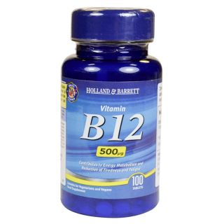 Holland & Barrett Vitamin B12 500μg - 100 Tablets