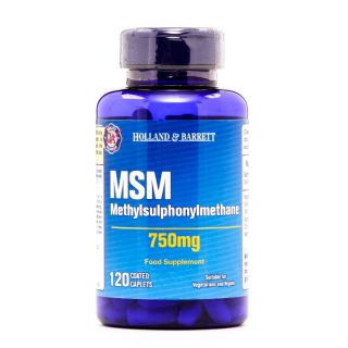 Holland & Barrett MSM Methylsulphonylmethane 750mg - 120 Caplets