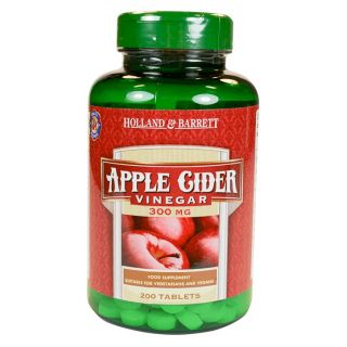 Holland & Barrett Apple Cider Vinegar 300mg - 200 Tablets