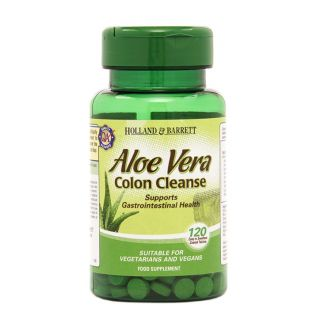 Holland & Barrett Aloe Vera Colon Cleanse 330mg - 120 Tablets