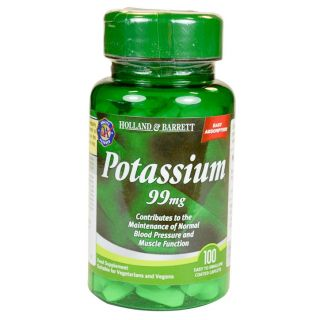 Holland & Barrett Potasio 99mg - 100 Comprimidos