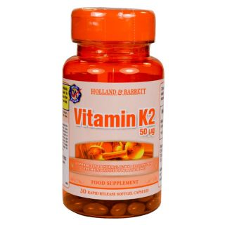 Holland & Barrett Vitamin K2 50μg - 30 Capsules