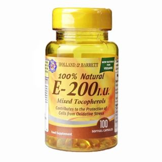 Holland & Barrett E-200 I.U. Mixed Tocopherols - 100 Capsules