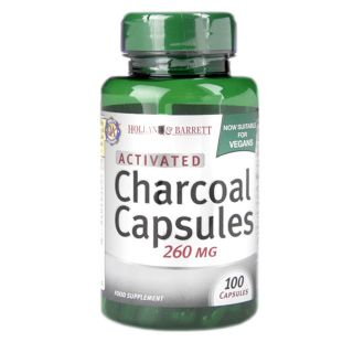 Holland & Barrett Charcoal 260mg - 100 Capsules