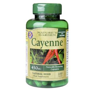 Nature's Garden Cayenne 450mg - 100 Capsules
