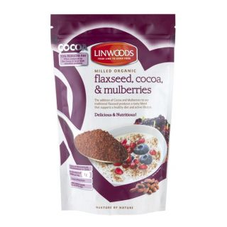 Linwoods Milled Organic Flaxseed, Cocoa & Mulberries - 200g
