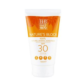 Holland & Barrett Nature's Block Mineral SPF 30 Sun Cream - 150ml