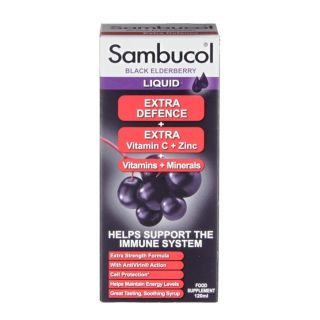Sambucol Extra Defence Black Elderberry Liquid - 30 Capsules