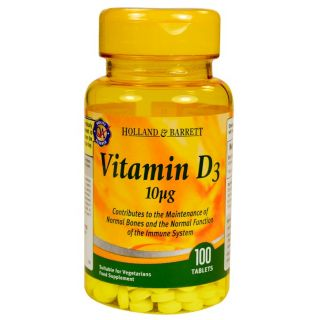 Holland & Barrett Vitamina D3 10μg - 100 Comprimidos