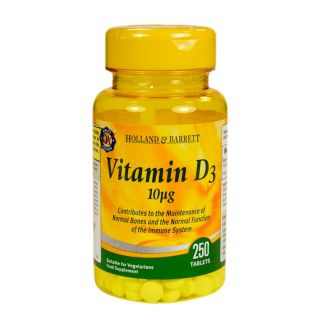 Holland & Barrett Vitamina D3 10μg - 250 Comprimidos