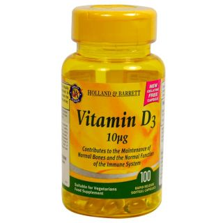 Holland & Barrett Vitamina D3 10μg - 100 Cápsulas