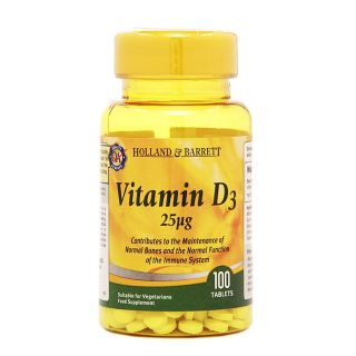 Holland & Barrett Vitamina D3 25μg - 100 Comprimidos
