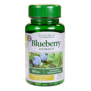 Nature's Garden Blueberry Extract 60mg - 100 Tablets