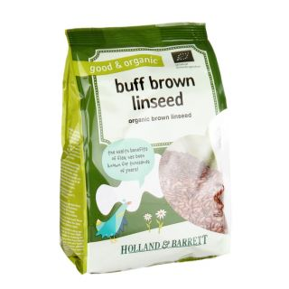 Holland & Barrett Organic Buff Brown Linseed - 250g