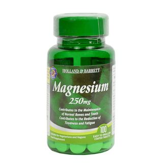 Holland & Barrett Magnesium 250mg - 100 Tablets